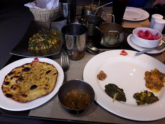 indus restaurant authentic punjabi food in my thali