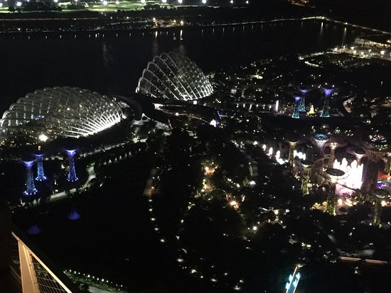 Garden By The Bay Bar singapore sling & malacca mojito - check out the view - picture of