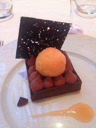 Fairmont Monte Carlo: Dolce con gelato al mandarino