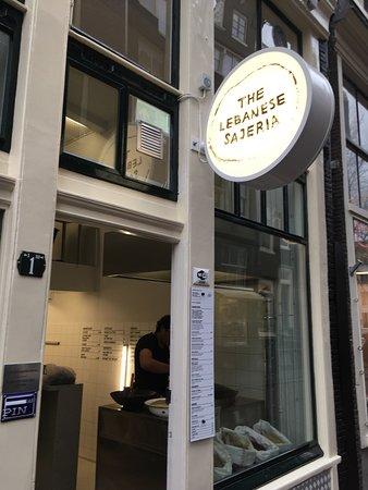 Photo of Restaurant The Lebanese Sajeria at Wijde Heisteeg 1, Amsterdam 1016 AS, Netherlands