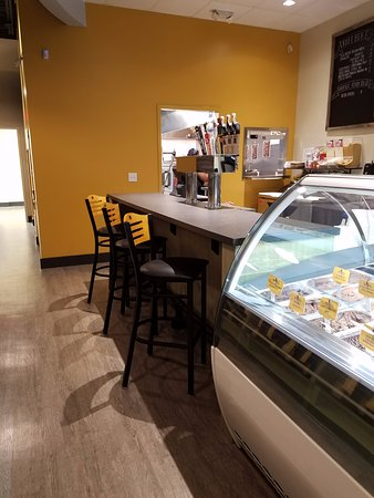 Serda's Coffee Co: wine and beer area at Serda's in Daphne