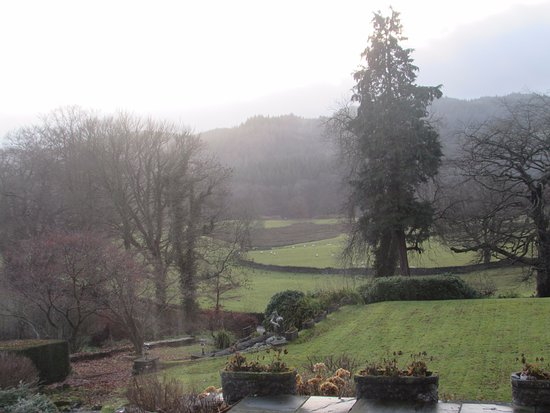 Near Sawrey, UK: View from the bar and our room
