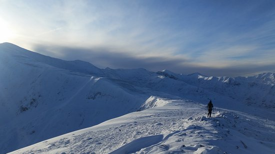 Kingussie, UK: Grey Corries in their winter coat