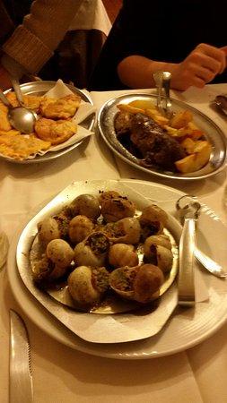 Ristorante Cavalier Saltini: Rane, lumache e germano reale con patate