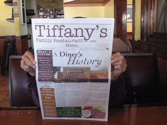 Tiffany's: Menu