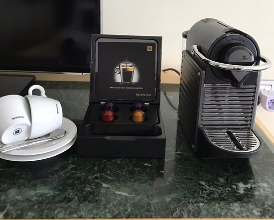All rooms have complimentary Nespresso machines