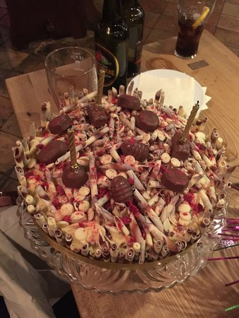 Reedham, UK: Cake made by the chef, absolutely fantastic and so tasty! Thank you!