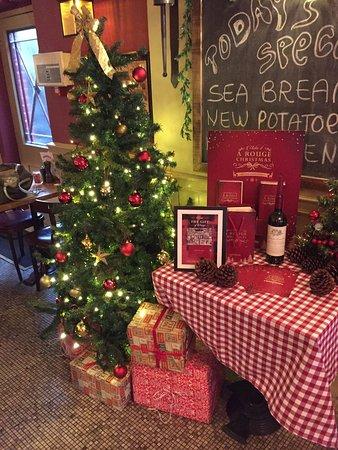 cafe rouge weybridge christmas atmosphere and mulled wine xxx love it xxx