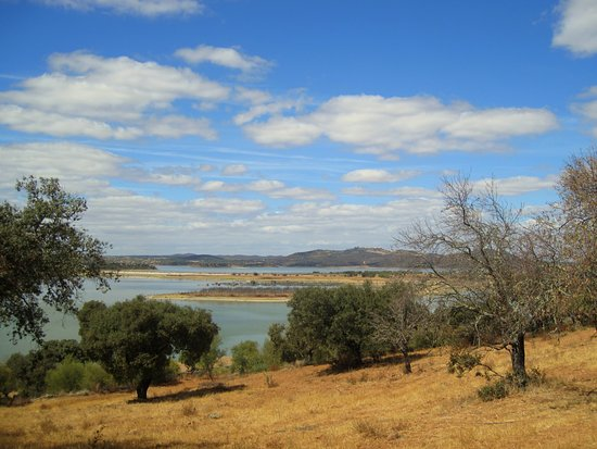 Mourao, Portugal: View on the lake