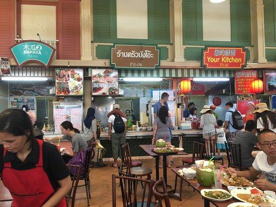 food court at banzaan fresh market food court in banzaan market