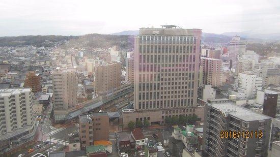 ホテル日航金沢, 窓からの眺め、南向き