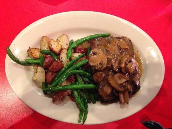 Chicago Diner : Truffle Mushroom Lentil Loaf, Green Beans and Roasted Potatoes