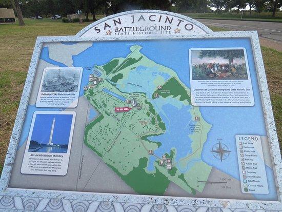 Battleground Map Picture Of San Jacinto Battleground State