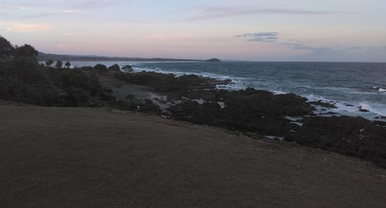 Looking North along the coast from Hastings Point