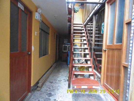 Mamma Cusco Hostel: Corredores y escaleras