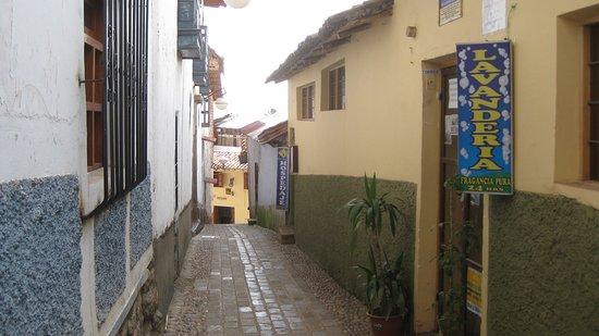 Mamma Cusco Hostel: Calle Alabado 536 Vista de la fachad.