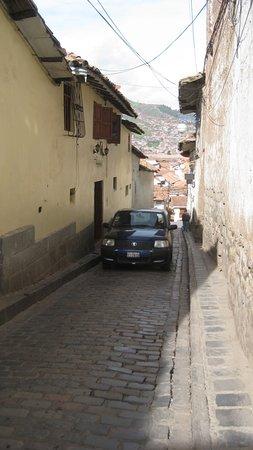 Calle Chihuampata otro acceso a Mamma Cusco Hostel