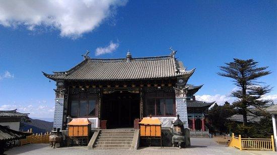 Binchuan County, Chine : 金頂寺內的供奉迦葉尊者的殿