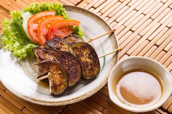 Restaurante Mangostin : Berinjela grelhada ao fio de azeite