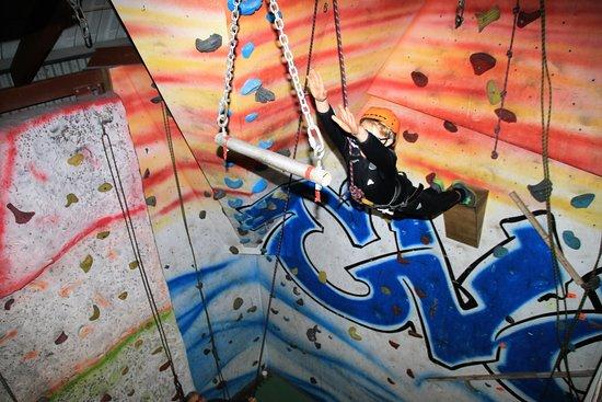 Crowborough, UK: Leap of Faith at Evolution Climbing