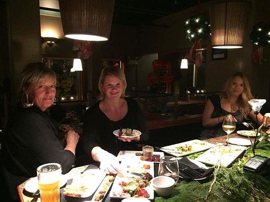 Sage Tapas and Wine Bar: Enjoying the food and drinks at Sage.