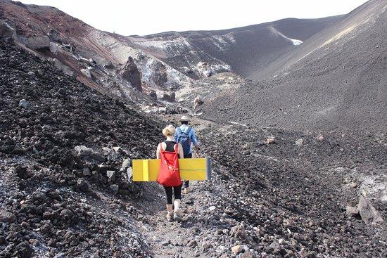 Leon, Nicarágua: Hiking the volcano
