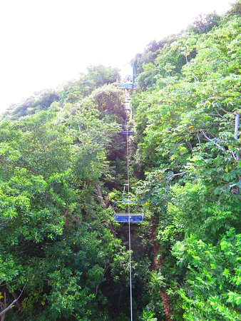 Jamaica: Going up on the sky glider