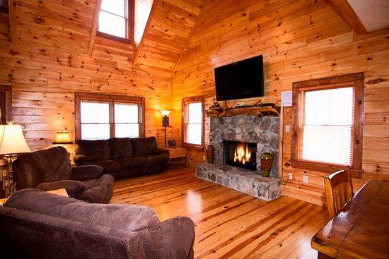 Hawg Hideaway - Living Room 2nd level. Queen sleeper sofa ...