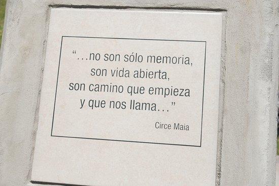 Mercedes, Uruguay: Texto en Espacio Memoria