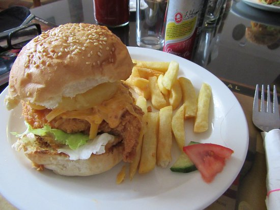 Colchester, Sudáfrica: Loved the chicken/pineapple burger