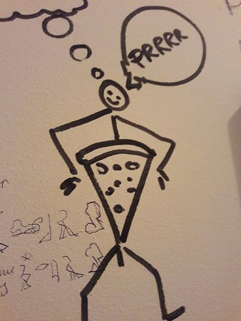 Can Pizza: Bathroom drawings