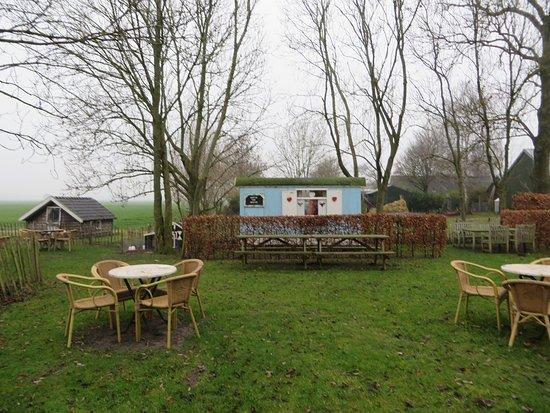 Oosterwolde, Hollanda: Pipowagen in theetuin Boerengoed, geschikt voor apart gezelschap