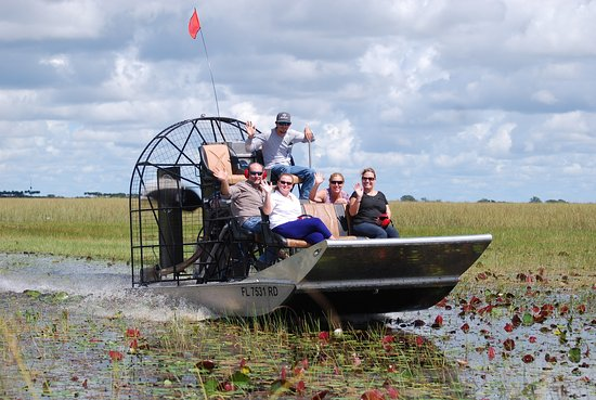 Everglades Wildlife Management Area, ฟลอริด้า: private airboat tour in the everglades