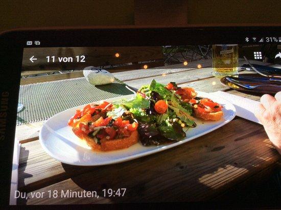 see la vie bruschetta gerostetes weia brot mit super schmeckenden warmen tomaten
