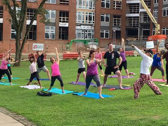 Free Yoga Class At Durham Central Park S Great Lawn Picture Of