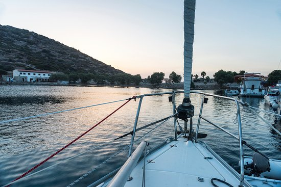 Knidos: Sundown from the boat