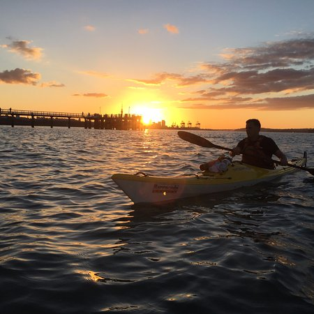 Summer sundowner on the paddle boards  - Picture of Fergs
