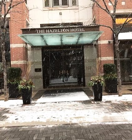 The Front Doors to The Hazelton Hotel