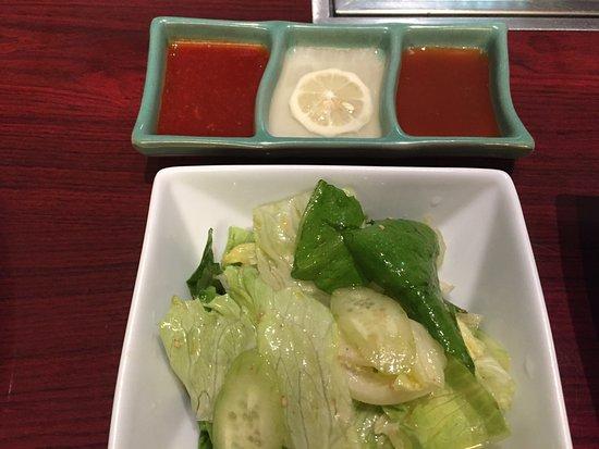 Jojoen, Marui City Ueno: 生菜及特製調料,口味都不相同
