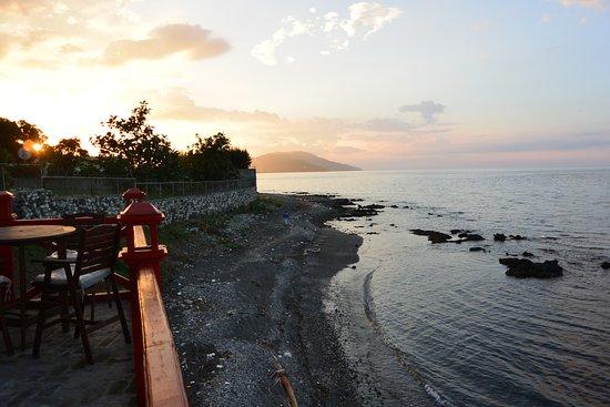 Petit Goave, Haiti: view from the charming Beach Bar