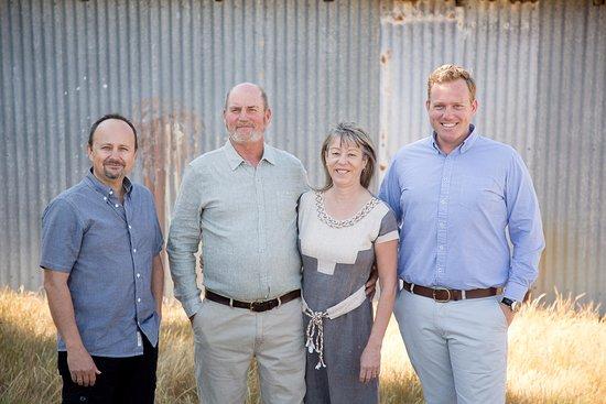 Bow Bridge, Australia: Marius [Winemaker], Mark & Deb [Founders], Josh [Director]