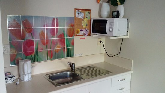 Ann's Volcanic Rotorua Motel and Serviced Apartments : small kitchenette