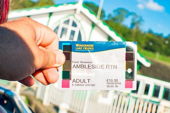 Bowness-on-Windermere, UK: Ambleside ticket ;)
