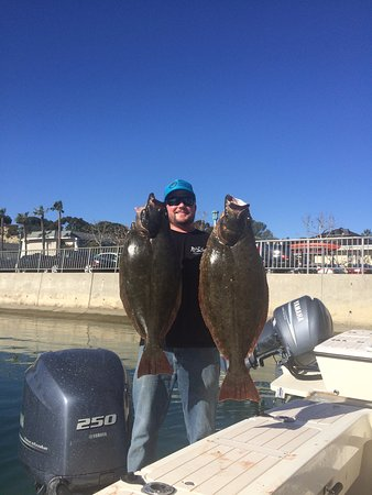 Dana Point, CA: Local Halibut Fishing on a half day private trip for 4 passengers.