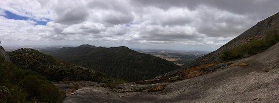 Porongurup National Park, Australia: Panoramic views from the granite slope known as Devil's Slide