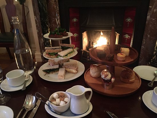 ‪‪Ardtara Country House‬: Afternoon Tea by the fire on a cold Day just before Christmas..... perfect‬