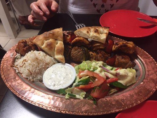 Double Kebab Plate Picture Of Reyhana Port Macquarie Tripadvisor