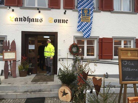 Landhaus Eingang eingang zum landhaus bild gasthof sonne hergensweiler