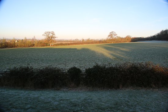 Lower Wick, UK: A frosty December morning