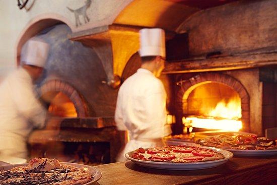 Pizzeria Kitchen pizzeria heuboden open kitchen - chesa veglia - picture of